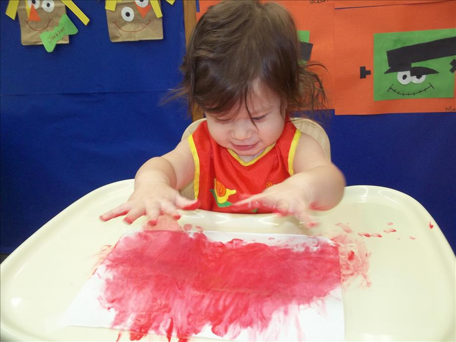Painting in the Infant Classroom
