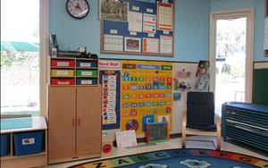 The group time area offers the children the opportunity to develop social skills and feel a sense of importance and belonging in the group.