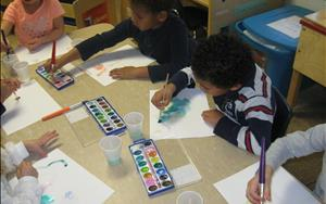 Pre-K Class Making Masterpieces