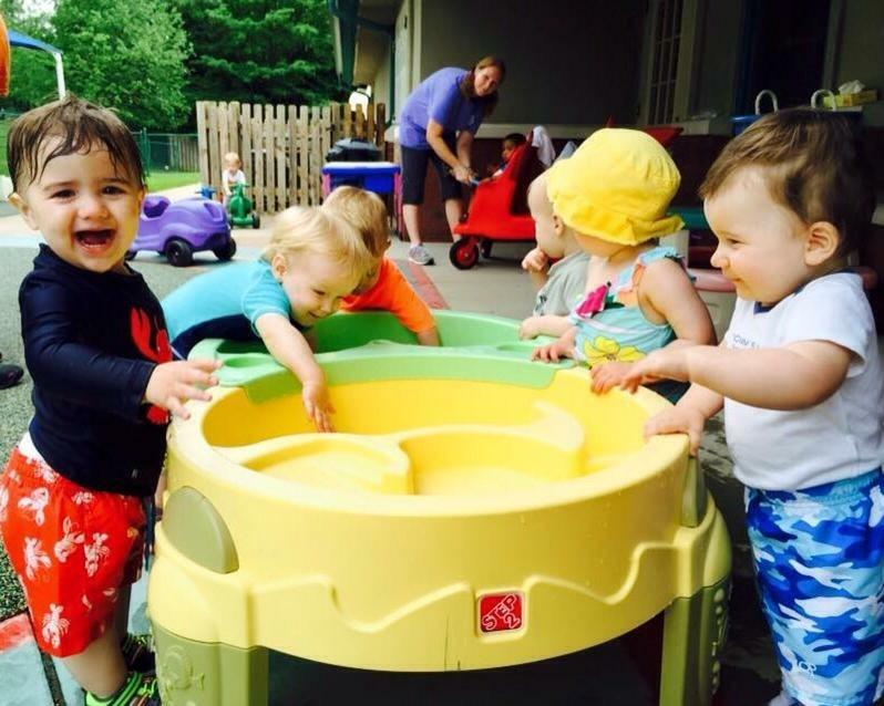 The Toddlers love water-play days during the summer!