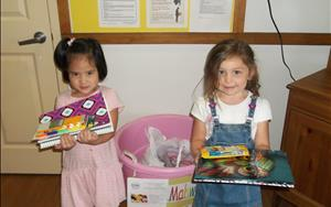 Donating School Supplies for the Center for Food Action