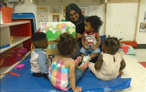 Group time: singing and reading is a favorite for our toddlers!