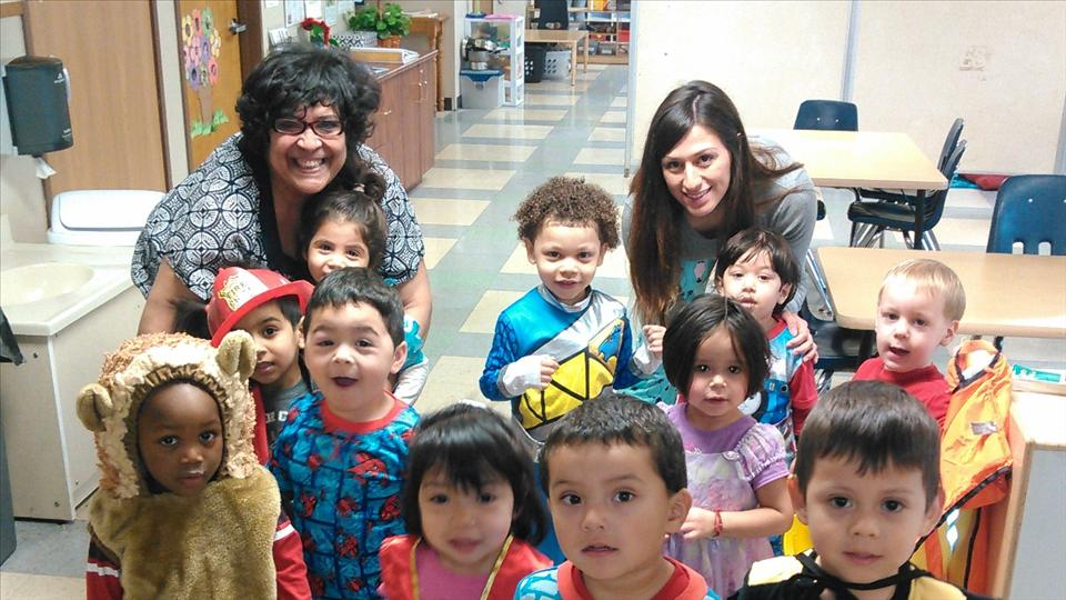 Our Discovery preschool class celebrating the Week Of the Young Child in their favorite costumes!