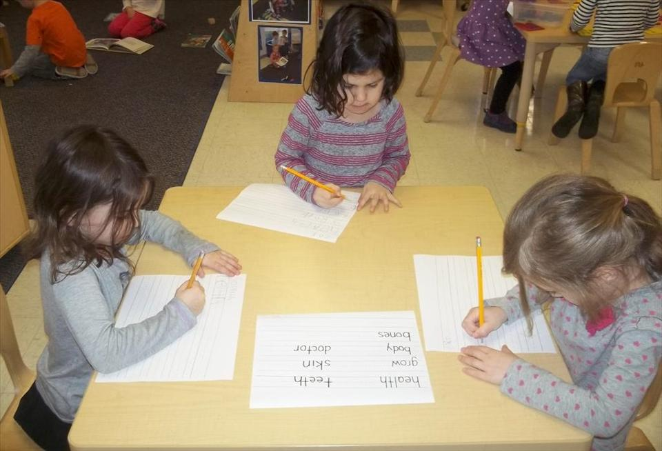 Our PreKindergarten focuses on sight words in print as well as allowing children to practice writing them on their own