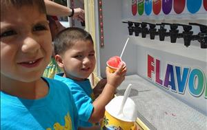 Cooling off with Kona Ice this summer.