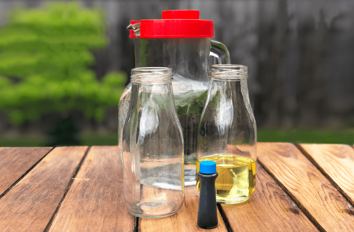 materials for beach in bottle