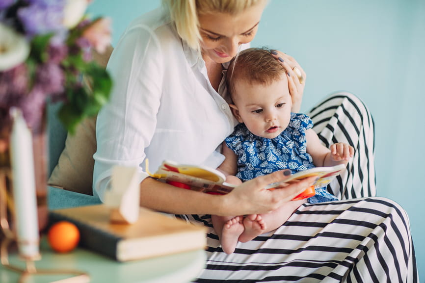 The earlier you start reading to your child, the sooner you'll set them on a path to success!