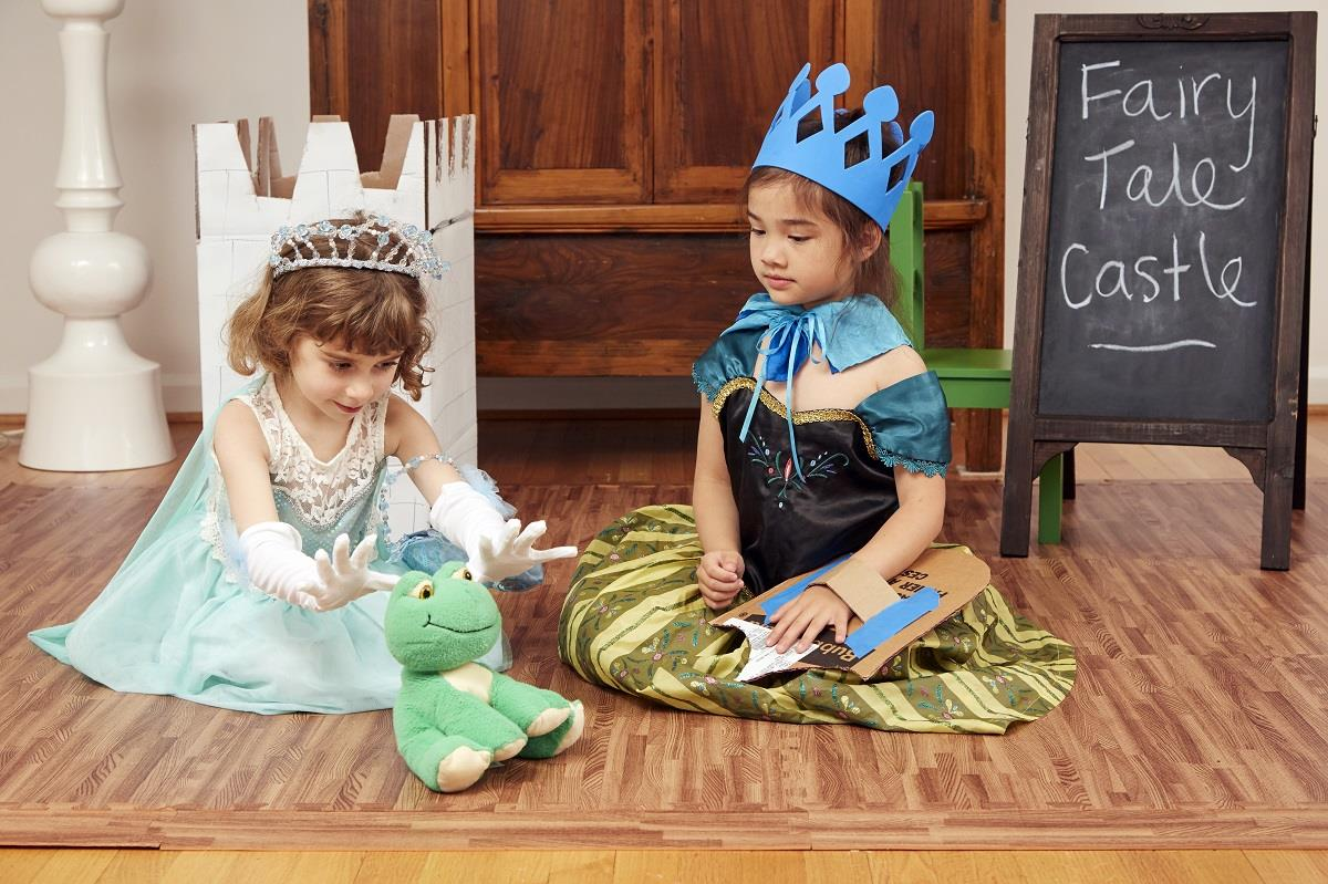 Princesses with a frog