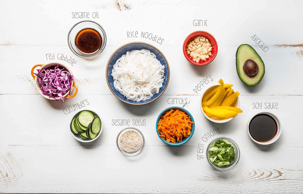 summer roll bowl ingredients