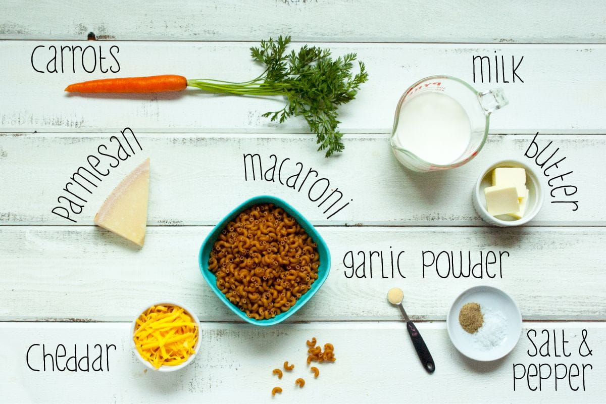carrot mac and cheese ingredients