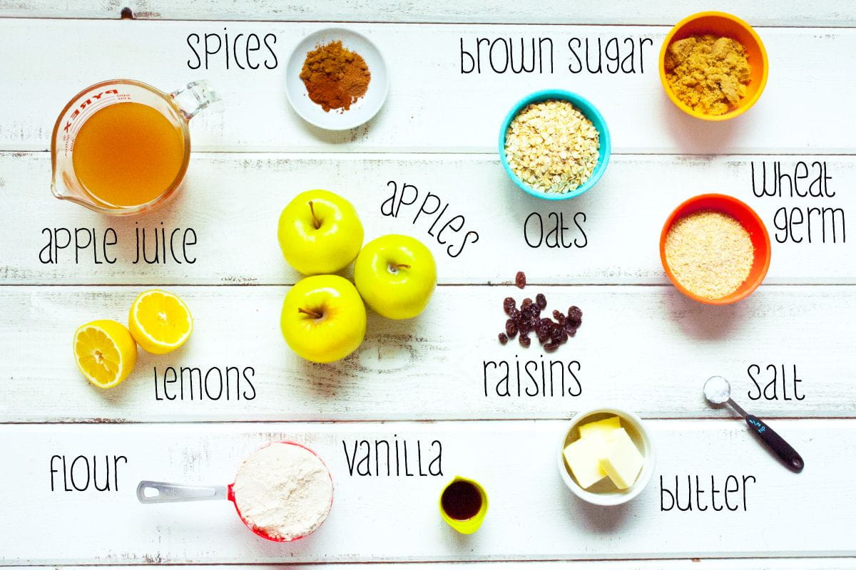 ingredients for apple crisp