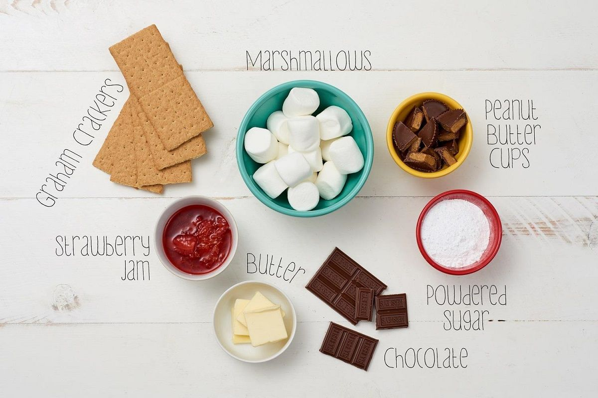 ingredients for smores bites