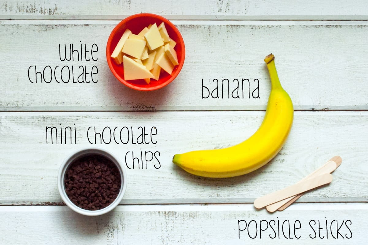 ingredients for banana ghosts